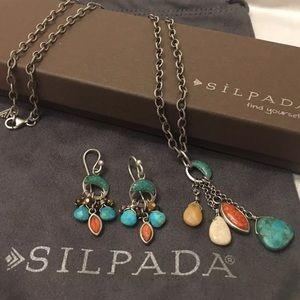 SILPADA TURQUOISE NECKLACE & EARRINGS SET